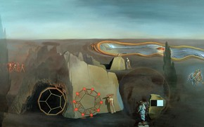 Picture surrealism, picture, Salvador Dali, Salvador Dali, In Search Of The Fourth Dimension