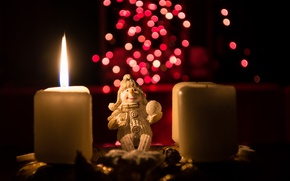 Picture holiday, toy, candles, Advent