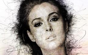Picture face, portrait, actress, art, beauty, Monica Bellucci