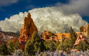 Picture clouds, nature, rocks