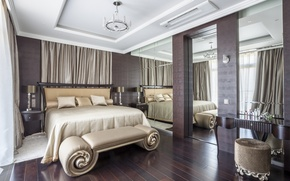 Wallpaper design, bedroom, bed, interior, style