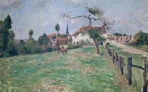 Picture landscape, picture, Camille Pissarro, The Village Of Eragny