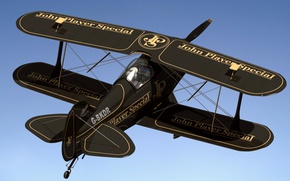 Picture style, biplane, Pitts S1 Special, 3D model