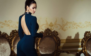 Wallpaper perfect, lips, light, fashion, earrings, waist, neckline, dark, portrait, amazing, hair, pose, Nikolas Verano, buttocks, ...