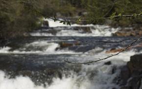 Picture Canada, River, Quebec, cascade, Riviere a Pierre