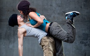 Picture girl, smile, dance, hugs, male