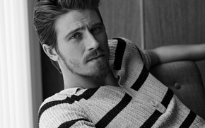 Wallpaper portrait, actor, black and white, photoshoot, 2014, Garrett Hedlund, Garrett Hedlund, Man of the World, ...