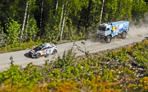 Wallpaper Rally, Race, KAMAZ, Sport, Master, Polo, VolksWagen