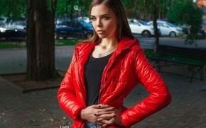 Wallpaper pose, street, portrait, hands, jacket, manicure, Alexander Drobkov-Light, Elena Kononenko