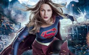 Wallpaper girl, logo, green eyes, dress, woman, blue, smile, beautiful, super, series, singer, blonde, American, pose, ...