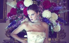 Picture look, flowers, style, model, makeup, Susanna Atelier