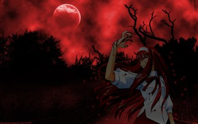 Picture girl, the moon, Tsukihime, bloody night