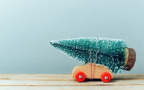 Picture snow, toy, tree, herringbone, Machine