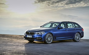 Picture the sky, BMW, Parking, Playground, radiation, universal, xDrive, Touring, 530d, 5, dark blue, 2017, 5-series, ...