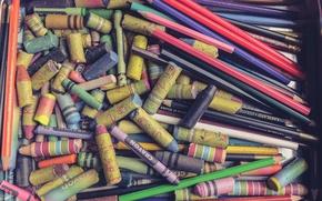 Picture background, pencils, Mel