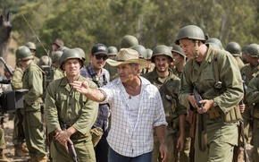 Wallpaper weapons, jeans, hat, soldiers, form, actors, shirt, gesture, history, drama, military, helmets, Director, Mel Gibson, ...
