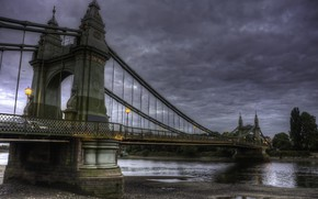 Picture water, clouds, bridge