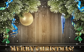 Picture snow, decoration, background, ball, ball, Christmas, New year, Christmas decorations, spruce branches
