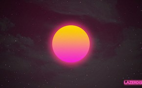 Picture the sky, the sun, space, stars, sunset, space, sunset, sun, neon, hotline miami, synthwave, retrowave, …
