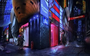 Picture angle, Concept art, Inspired by Ghost In The Shell, Shanghai 2020