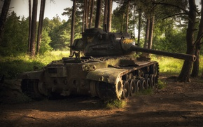 Wallpaper scrap, tank, M47, weapons