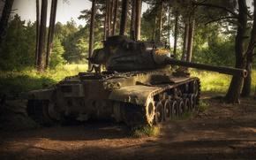 Wallpaper weapons, tank, scrap, M47