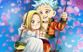 Picture anime, art, Nanatsu no Taizai, The seven deadly sins, Ban, Elaine