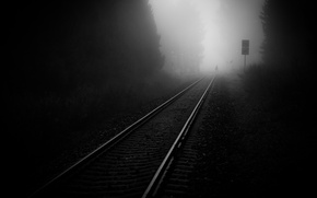 Picture road, photo, black and white, Iron