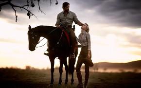Picture 2008, cinema, Nicole Kidman, Hugh Jackman, woman, man, movie, horse, blonde, film, Drover, Australia, Sarah …
