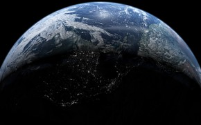 Picture earth, planet, continents