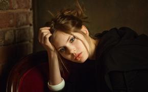 Picture sponge, the beauty, curls, Nastya, Anastasia Cystic