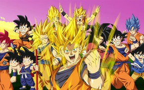 Picture anime, art, characters, Dragon Ball