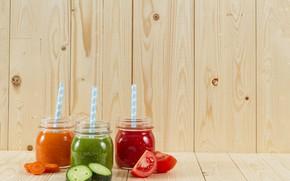 Picture cucumber, fresh, juices, tomato juice, carrot juice