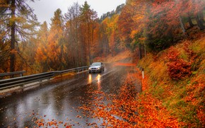 Picture auto, autumn, Italy, Alps