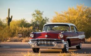 Picture road, retro, shadow, car, Pontiac, Custom, Catalina, Chief