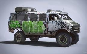 Wallpaper Racing Rat Van, car, Dodge Ram 250