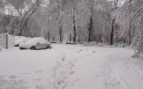 Picture Snow, April, Dnepr