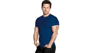 Wallpaper pose, muscle, t-shirt, Mark Wahlberg, jeans, Mark Wahlberg, actor