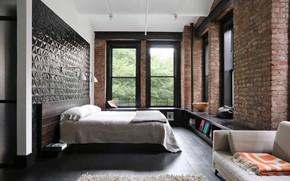 Picture design, interior, bedroom, Industrial Apartment