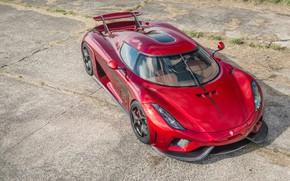 Picture auto, Koenigsegg, supercar, red, Regera