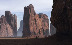 Picture stones, people, rocks, shadows, landscapes