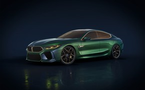 Wallpaper Concept, background, BMW, the concept, Gran Coupe, backgound, VMB