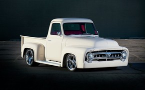 Picture Ford, White, Pickup, F100