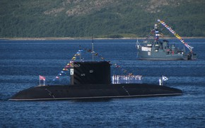 Picture submarine, the project 877, Navy day, diesel submarine