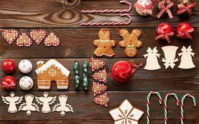 Picture merry christmas, cookies, decoration, xmas, gingerbread