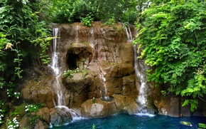Picture Stream, Waterfall, Stones, Missouri, USA, USA, St. Louis, Nature, Waterfall, Missouri, Flow, St.Louis
