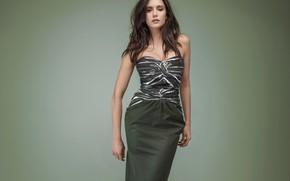Picture girl, photo, model, hair, figure, dress, neckline, beautiful, Nina Dobrev, Nina Dobrev