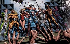 Picture comic, comics, Marvel Comics, Venom, Ares, Ares, Tagged, iron patriot, Norman Osborn, Dark Wolverine, capitan …