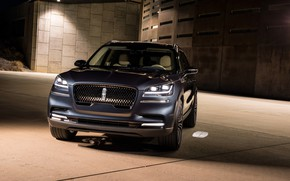 Picture Lincoln, lights, front view, Aviator, 2019