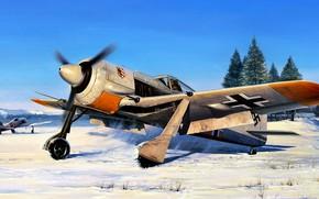 Picture The second World war, Figure, Germany, piston fighter, Fw.190A-4, JG 54, Focke-Wulf, Luftwaffe